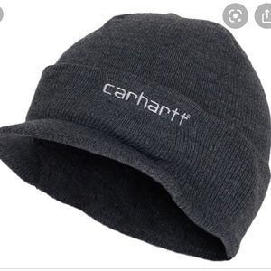 CARHARTT Gray Knit Hat With Visor